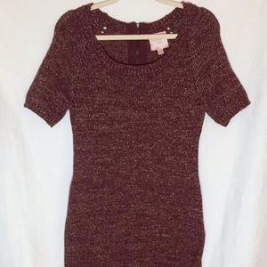 Romeo Juliet Couture Burgundy Sweater Dress